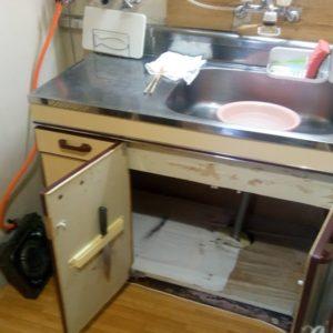 台所・キッチンシンクの取替え。
